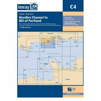 Imray Chart C4 Needles Channel to the Bill of Portland
