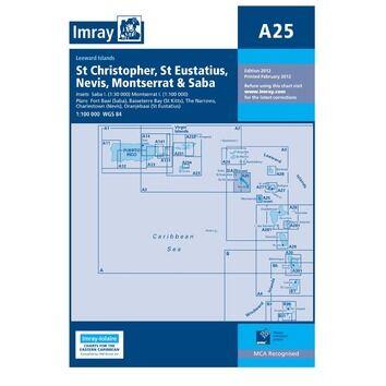 Imray Chart A25: St Eustatius, St Christopher, Nevis, Monserrat & Saba