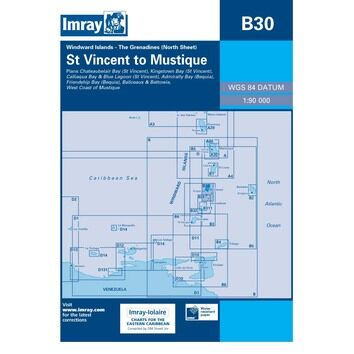 B30 Grenadines - N.Sheet - St. Vincent to Mustique Admiralty Chart