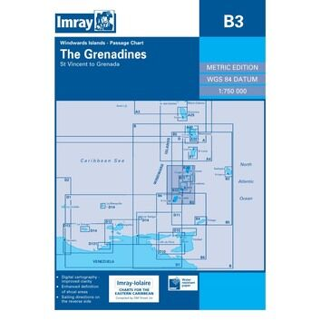 Imray Chart B3: The Grenadines