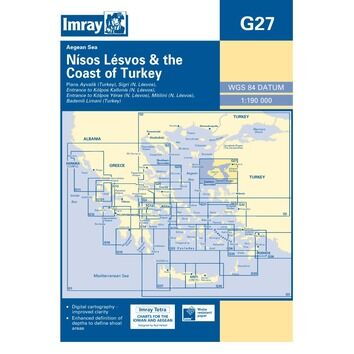 Imray Chart G27: Nisos Lesvos & the Coast of Turkey