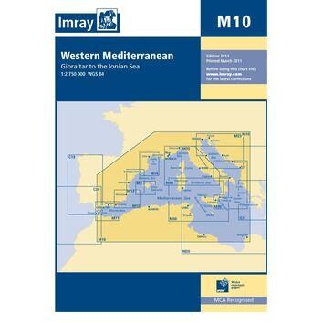 Imray Chart M10 Western Mediterranean