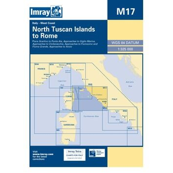 Imray Chart M17: North Tuscan Islands to Rome