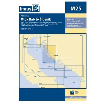 Imray Chart M25: Otok Rab to Sibenik