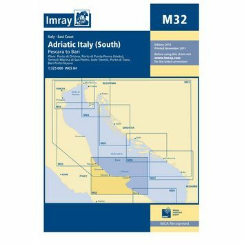 Imray Chart M32 Adriatic Italy (South)