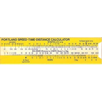 Portland Speed Time Distance Calculator (Large)