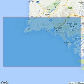 58 Pakistan,Approaches to Karachi Admiralty Chart