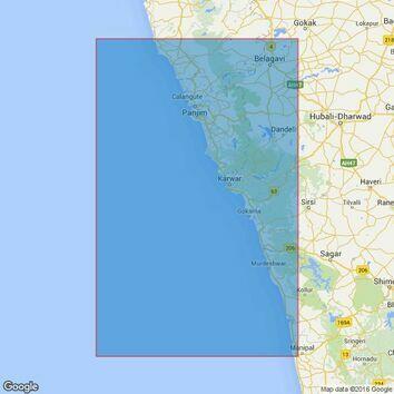 1509 Coondapoor to Vengurla Admiralty Chart
