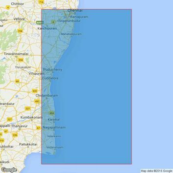 2069 Point Calimere to Madras Admiralty Chart
