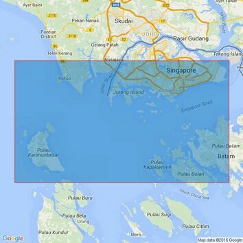3833 Singapore Strait, Western Part Admiralty Chart