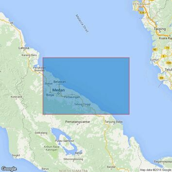 3921 Teluk Aru to Kualatanjung Admiralty Chart