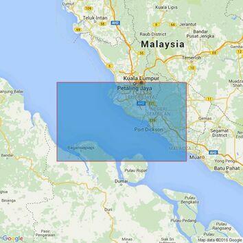 3946 Port Klang to Melaka Admiralty Chart