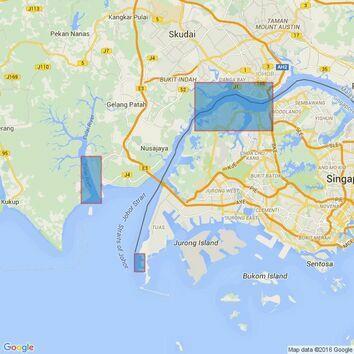 4038 Johor Strait, Western Part Admiralty Chart