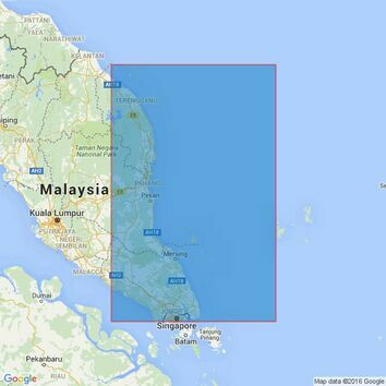 2422 Singapore to Pulau Redang Admiralty Chart