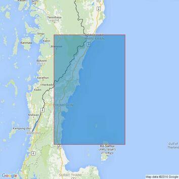 3964 Lang Suan to Prachuap Khiri Khan Admiralty Chart