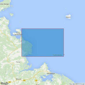 1650 Pulau Billean to Lihiman Admiralty Chart