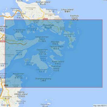 1126 Luojia Shan to Xiangshan Gang Admiralty Chart