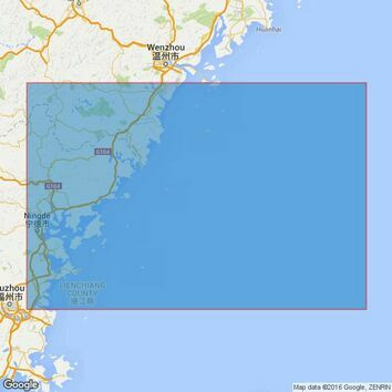1754 Mazu Liedao to Beijishan Liedao Admiralty Chart