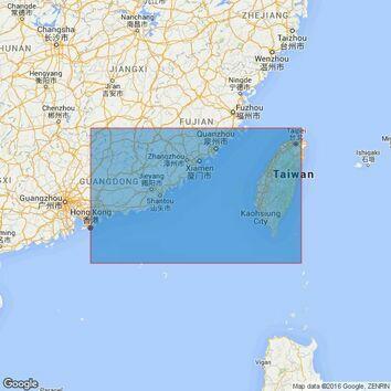 1968 Taiwan Strait Admiralty Chart