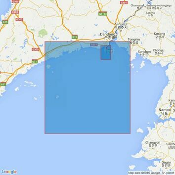 1251 China and Korea - Yellow Sea, Dadong Gangqu and App Admiralty Chart