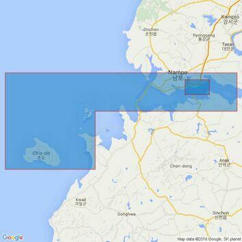 1257 Taech'ong Gundo to Namp'o Admiralty Chart