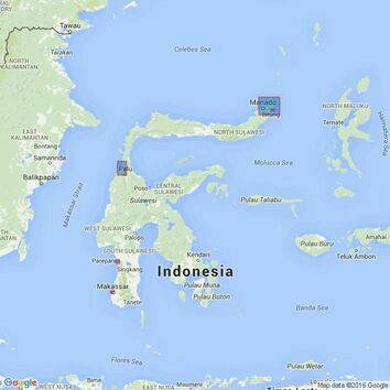 2638 Ports and Approaches in Sulawesi Admiralty Chart