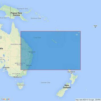 4602 Tasman and Coral Seas Australia to Northern New Zealandand Fiji Admiralty Chart