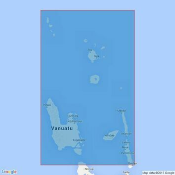 1575 Ile Pentecote to Torres Islands Admiralty Chart