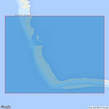1451 Canton Island Lagoon Entrance Admiralty Chart