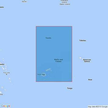 4632 Fiji to Tuvalu Admiralty Chart