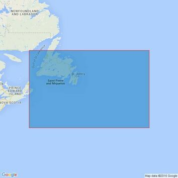 2666 Grand Banks of Newfoundland Admiralty Chart