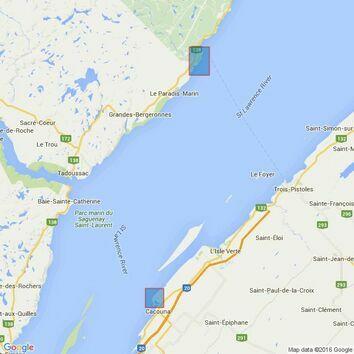 4782 Pointe au Boisvert a/to Cap de la Tete au Chien Admiralty Chart