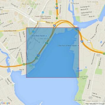 2728 Long Island Sound - Approaches to New Haven Harbor Admiralty Chart