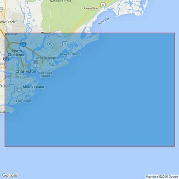 2803 Outer Approaches to Charleston Harbor Admiralty Chart