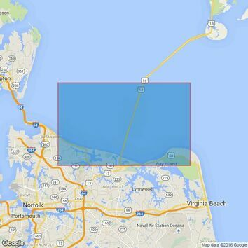 2829 Chesapeake Bay, Lynnhaven Roads Admiralty Chart