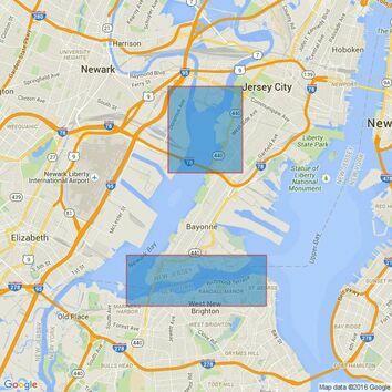 3457 New York Arthur Kill- Kill Van Kull and Newark Bay Admiralty Chart