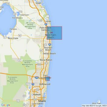 3684 Port of Palm Beach with Approaches and Port Everglades Admiralty Chart