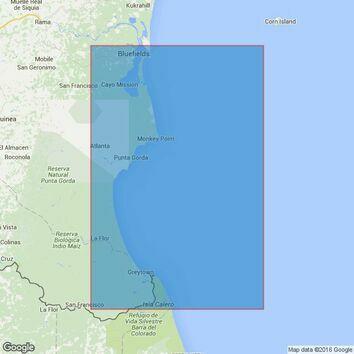 1139 San Juan Del Norte (Greytown) to Bluefields Bluff Admiralty Chart