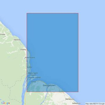527 Approaches to Demerara and Essequibo Rivers Admiralty Chart