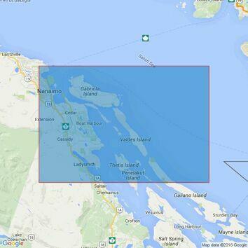 4956 Thetis Island to/a Nanaimo Admiralty Chart