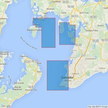 545 Ports in Baia de Todos os Santos Admiralty Chart