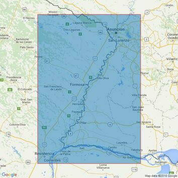 2039 Rivers Uruguay- Parana and Paraguay Admiralty Chart