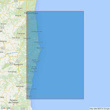 3974 Ilheus to Ponta Corumbau Admiralty Chart