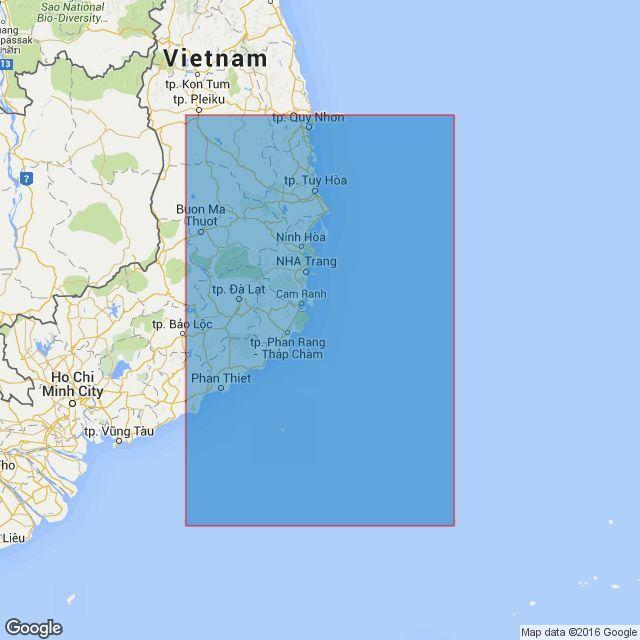 3987 Mui Ke Ga to Vung QuiNhon Admiralty Chart only 2520