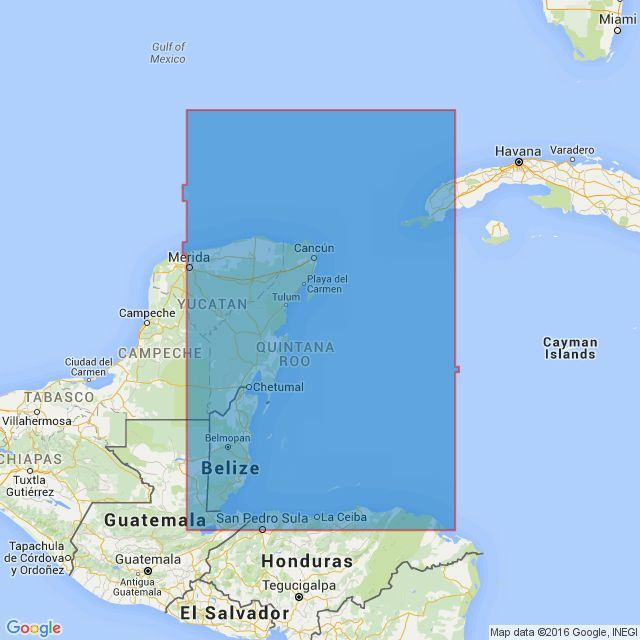 1220 Gulf of Honduras and Yucatan Channel Admiralty Chart only £25.90