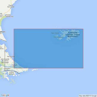 Folio 96 E.Coast S.America, S.Part & Falklands