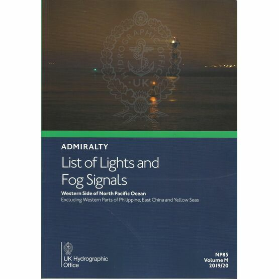 Admiralty NP85 List of Lights & Fog Signals (Volume M)