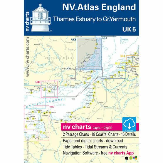 NV. Atlas England UK5: Thames Estuary to Great Yarmouth