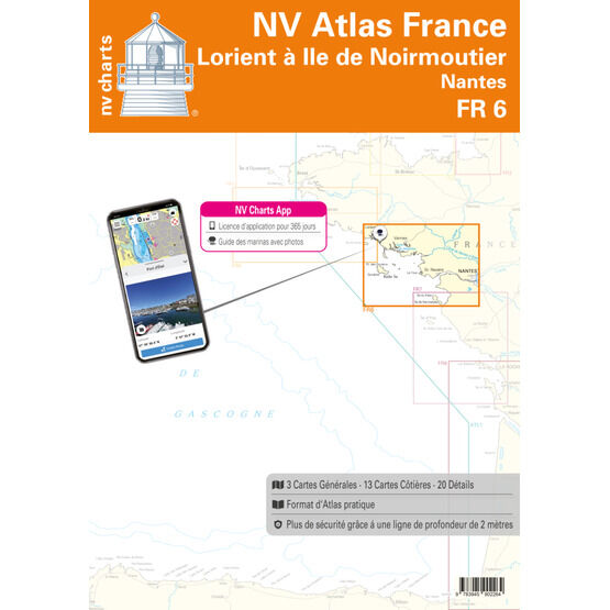 NV. Atlas France FR6: Lorient to I'lle de Noirmoutier, Nantes