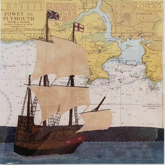 Hannah Wisdom Plymouth Mayflower Card